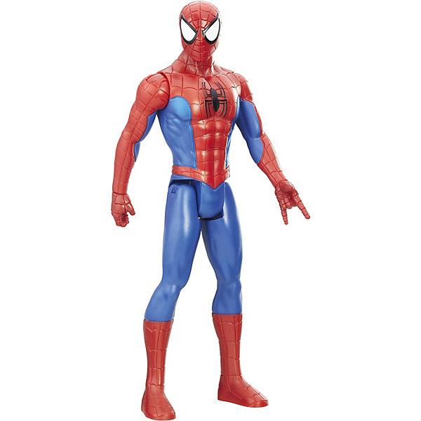 Интерактивная фигурка Человека-паука, Marvel Spider-ManГерои комиксов<br>Характеристики товара:<br><br>• возраст: от 4 лет;<br>• материал: пластик;<br>• в комплекте: фигурка;<br>• высота фигурки: 30 см;<br>• размер упаковки: 30,6х10,3х5,2 см;<br>• вес упаковки: 170 гр.<br><br>Интерактивная фигурка Человека-паука Marvel Spider-man представляет собой фигурку известного супергероя Человека-паука. У фигурки 5 точек артикуляции и дополнительный радиус движения. При помощи устройства Power Pack, которое приобретается отдельно, можно активировать звук выпускаемой паутины.<br><br>Интерактивную фигурку Человека-паука Marvel Spider-man можно приобрести в нашем интернет-магазине.<br>Ширина мм: 309; Глубина мм: 106; Высота мм: 53; Вес г: 270; Возраст от месяцев: 48; Возраст до месяцев: 96; Пол: Мужской; Возраст: Детский; SKU: 7984965;