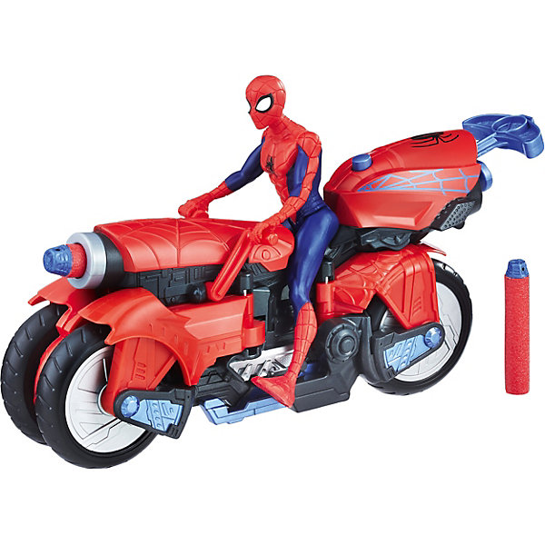 Фигурка Marvel Spider-man Человек-паук с транспортомГерои комиксов<br>Характеристики товара:<br><br>• возраст: от 4 лет;<br>• материал: пластик;<br>• в комплекте: фигурка, транспортное средство, 2 патрона;<br>• высота фигурки: 15 см;<br>• размер упаковки: 31,8х21,6х8,3 см;<br>• вес упаковки: 581 гр.<br><br>Фигурка Marvel Spider-man «Человек-паук с транспортом» представляет собой фигурку известного супергероя Человека-паука. В наборе представлено и его необычное транспортное средство, которое способно превращаться из обычного мотоцикла в транспортное средство с 4 большими лапами, как у настоящего паука. Помимо этого, мотоцикл оснащен пушкой, стреляющей снарядами на расстояние до 3 метров. Транспортное средство совместимо и с другими фигурками Человека-паука до 15 см.<br><br>Фигурку Marvel Spider-man «Человек-паук с транспортом» можно приобрести в нашем интернет-магазине.<br>Ширина мм: 320; Глубина мм: 218; Высота мм: 91; Вес г: 579; Возраст от месяцев: 48; Возраст до месяцев: 96; Пол: Мужской; Возраст: Детский; SKU: 7984981;