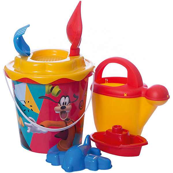 Купить Набор игрушек для песочницы Полесье Disney Микки и Весёлые гонки» № 12, 7 предметов, Беларусь, разноцветный, Мужской