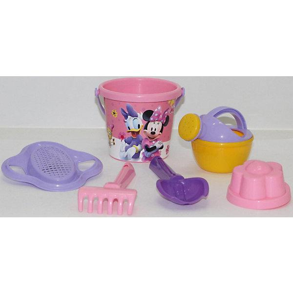 Набор игрушек для песочницы Полесье Disney Минни» № 4, 6 предметовМинни Маус<br>Характеристики:<br><br>• возраст: от 3 лет;<br>• материал: пластик;<br>• комплектация: ведро малое с наклейкой, ситечко-цветок, совок №2, грабельки №2, 1 формочка, лейка малая №3;<br>• размер: 13,5х13,5х19,5 см;<br>• вес: 121 гр;<br>• упаковка: сетка;<br>• страна бренда: Беларусь;<br>• бренд: Полесье.<br><br>Набор Disney «Минни» №4 порадует детей от 3 лет и старше. Он включает в себя нескольких формочек и видов «копательных» инструментов, большого ведра хватит на всех. Множество составляющих комплекта позволят весело провести время. Детишки обожают играть в песок, значит, есть идея, как их занять. Набор легко моется, изготовлен он из пластмассы, не содержит токсичных веществ. Яркие наклейки на некоторых элементах набора привлекут внимание ребенка, заинтересуют в продолжении игры.<br><br>Набор Disney «Минни» №4 можно купить в нашем интернет-магазине.<br>Ширина мм: 135; Глубина мм: 135; Высота мм: 195; Вес г: 121; Цвет: разноцветный; Возраст от месяцев: 36; Возраст до месяцев: 2147483647; Пол: Женский; Возраст: Детский; SKU: 7992079;