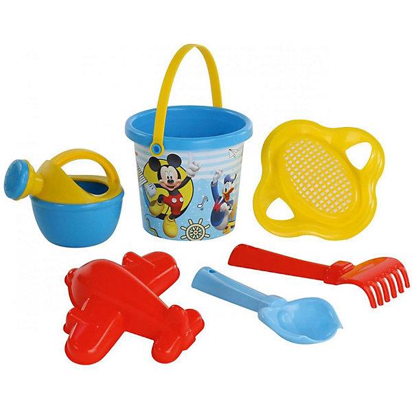 Купить Набор игрушек для песочницы Полесье Disney Микки и Весёлые гонки» № 4, 6 предметов, Беларусь, разноцветный, Мужской