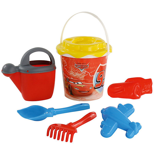 Набор игрушек для песочницы Полесье Disney Pixar Тачки» № 20, 7 предметовТачки<br>Характеристики:<br><br>• возраст: от 3 лет;<br>• материал: пластик;<br>• комплектация: ведро с наклейкой, ситечко Солнышко, лопатка №5, грабельки №5, формочки (Молния Маккуин + самолёт), лейка №10;<br>• размер: 20х19х33 см;<br>• вес: 270 гр;<br>• упаковка: сетка;<br>• страна бренда: Беларусь;<br>• бренд: Полесье.<br><br>Набор Disney/Pixar «Тачки» №20 порадует детей от 3 лет и старше. Он включает в себя нескольких формочек и видов «копательных» инструментов, большого ведра хватит на всех. Детишки обожают играть в песок, значит, есть идея, как их занять. Набор легко моется, изготовлен он из пластмассы, не содержит токсичных веществ. Яркие наклейки на некоторых элементах набора привлекут внимание ребенка, заинтересуют в продолжении игры.<br><br>Набор Disney/Pixar «Тачки» №20 можно купить в нашем интернет-магазине.<br>Ширина мм: 200; Глубина мм: 190; Высота мм: 330; Вес г: 270; Цвет: разноцветный; Возраст от месяцев: 36; Возраст до месяцев: 2147483647; Пол: Мужской; Возраст: Детский; SKU: 7992089;