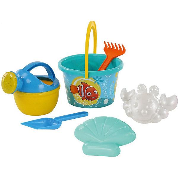 Набор игрушек для песочницы Полесье Disney Pixar В поисках Немо» № 8, 6 предметовВ поисках Дори<br>Характеристики:<br><br>• возраст: от 3 лет;<br>• материал: пластик;<br>• комплектация: ведро среднее с наклейкой, лопатка, грабельки, формочки (краб №2 + ракушка №2), лейка малая №4;<br>• размер: 17х15,5х19 см;<br>• вес: 187 гр;<br>• упаковка: сетка;<br>• страна бренда: Беларусь;<br>• бренд: Полесье.<br><br>Набор Disney/Pixar «В поисках Немо» №8 порадует детей от 3 лет и старше. Он включает в себя нескольких формочек и видов «копательных» инструментов, большого ведра хватит на всех. Множество составляющих комплекта позволят весело провести время. Детишки обожают играть в песок, значит, есть идея, как их занять. Набор легко моется, изготовлен он из пластмассы, не содержит токсичных веществ. Яркие наклейки на некоторых элементах набора привлекут внимание ребенка, заинтересуют в продолжении игры.<br><br>Набор Disney/Pixar «В поисках Немо» №8 можно купить в нашем интернет-магазине.<br>Ширина мм: 190; Глубина мм: 155; Высота мм: 170; Вес г: 187; Цвет: разноцветный; Возраст от месяцев: 36; Возраст до месяцев: 2147483647; Пол: Унисекс; Возраст: Детский; SKU: 7992095;