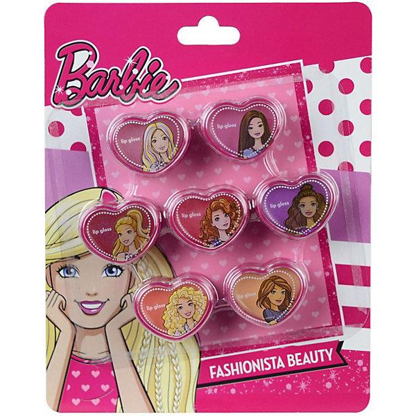 Детская декоративная косметика Markwins Barbie, блески для губBarbie<br>Характеристики:<br><br>• возраст: 6+;<br>• пол: для девочек;<br>• цвет: розовый;<br>• габариты упаковки: 15х2х19 см;<br>• вес: 105 г.<br><br>Большой набор детской косметики – лучший подарок для маленьких модниц, ведь каждая малышка хочет быть похожа на маму и научиться красить губы. <br><br>Упаковки блесков выполнены в ярких тонах и украшены изображениями куклы Барби и ее подружки. <br><br>Косметика отвечает всем европейским стандартам качества: не содержит парабенов, метилизотиазолинона и пальмового масла, не вредит коже и не тестируется на животных.<br><br>В набор входят блески для губ в баночках - 7 шт.<br><br>Детскую декоративную косметику «Barbie» (блески для губ), Markwins можно приобрести в нашем интернет-магазине.<br>Ширина мм: 150; Глубина мм: 20; Высота мм: 190; Вес г: 105; Возраст от месяцев: 72; Возраст до месяцев: 2147483647; Пол: Женский; Возраст: Детский; SKU: 7992886;