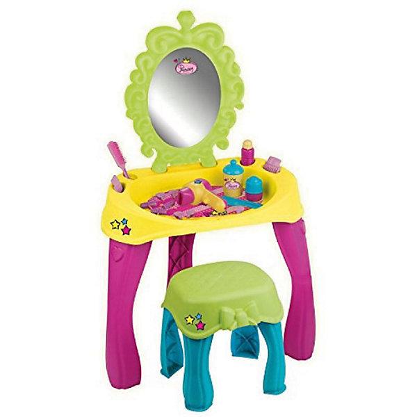 Туалетный столик FAROСалон красоты<br>Характеристики:<br><br>• возраст: от 3 лет;<br>• материал: пластик;<br>• комплектация: 20 аксессуаров;<br>• вес: 3,7 кг;<br>• размер: 30х17х44 см;<br>• бренд: FARO.<br><br>Туалетный столик FARO создан для девочек от 3 лет. Утренний или вечерний туалет-это очень важная вещь для каждой молодой леди. Теперь эти ежедневные действия могут быть еще лучше, благодаря новому туалетному столику от компании Faro. Девочка сидит на удобном стульчике. Перед ней большое зеркало в декоративной раме, рядом полочка со специальными местами для щетки, расчески и бутылки с косметикой. Благодаря цветной сушилке волосы в миг будут сухие, а с помощью розовых валиков пряди можно закрутить в красивые кудряшки и волны.<br><br>Туалетный столик с аксессуарами выдержан в теплых, пастельных тонах. Все элементы имеют декоративные украшения. В комплекте 20 аксессуаров. Игрушка сделана в Италии из высококачественнох искусственных материалов. Туалетный столик легко моется с помощью влажной тряпочки с использованием моющего средства.<br><br><br>Туалетный столик FARO можно купить в нашем интернет-магазине.<br>Ширина мм: 300; Глубина мм: 170; Высота мм: 440; Вес г: 3700; Возраст от месяцев: 36; Возраст до месяцев: 2147483647; Пол: Унисекс; Возраст: Детский; SKU: 7994465;
