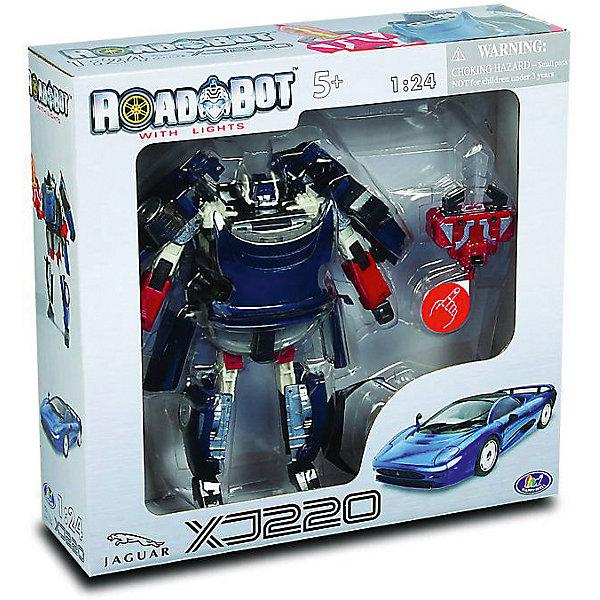 Робот-трансформер Happy Well Jaguar XJ220 Roadbot, 1:24Роботы<br>Характеристики:<br><br>• возраст: от 3 лет;<br>• материал: пластик;<br>• масштаб: 1:24;<br>• тип батареек: AG 13\ LR44;<br>• наличие батареек: входят в комплект;<br>• вес: 630 гр;<br>• размер: 30х6х32 см;<br>• бренд: Happy Well.<br><br>Робот-трансформер «Happy Well Jaguar XJ220 Roadbot» 1:24 заинтересует любого ребёнка. Ведь у него появится одновременно две игрушки – робот и машинка. Яркий, футуристический и устрашающий воин всего за пару мгновений сможет превратиться в современный скоростной автомобиль. Машинка представлена в точной копии скоростного Jaguar XJ220 (в масштабе 1:24).<br>Игрушка работает от 2 батареек типа AG 13\ LR44, которые уже предусмотрены в наборе.<br><br>Робот-трансформер «Happy Well Jaguar XJ220 Roadbot» 1:24  можно купить в нашем интернет-магазине.<br>Ширина мм: 320; Глубина мм: 60; Высота мм: 300; Вес г: 630; Возраст от месяцев: 36; Возраст до месяцев: 2147483647; Пол: Унисекс; Возраст: Детский; SKU: 7994485;