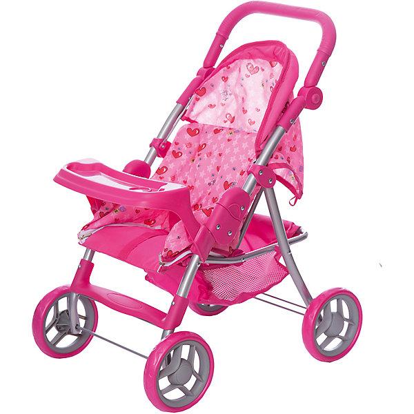 Коляска-трансформер для кукол   Buggy Boom cерия Скайна (Skyna), розовая с сердечкамиТранспорт и коляски для кукол<br>Характеристики:<br><br>• возраст: от 3 лет;<br>• материал: металл, пластик, текстиль;<br>• цвет: розовый;<br>• принт: сердечки;<br>• размер: 53х14х33 см;<br>• вес: 2,68 кг;<br>• страна бренда: Россия;<br>• бренд: Багги Бум.<br><br>Коляска-трансформер для кукол Buggy Boom – стильная,  функциональная, с возможностью многочисленных регулировок и оригинальной конструкцией, непременно понравится вашей девочке. <br><br>Благодаря множеству функций, таких как: люлька переноска, сетчатая корзина, система безопасности для ребенка от случайного складывания, ремень безопасности, столик для кормления куклы, регулируемая ручка, складной капюшон - игра с коляской становится разнообразной и увлекательной. <br><br>Коляска выполнена из качественных и безопасных для ребенка материалов, каркас произведен из облегченного металла и делает конструкцию прочной и устойчивой к повреждениям, колеса изготовлены из высококачественного полимера и пластмассы, а в качестве ткани использован полиэстер, который легко мыть. <br><br>Коляска легко собирается и не занимает много места, её можно использовать в зимнее и летнее время. Поставляется в фирменной красочной коробке с ручкой.<br><br>Коляску-трансформер для кукол Buggy Boom  можно купить в нашем интернет-магазине.<br>Ширина мм: 53; Глубина мм: 14; Высота мм: 33; Вес г: 2680; Цвет: розовый; Возраст от месяцев: 36; Возраст до месяцев: 60; Пол: Женский; Возраст: Детский; SKU: 7994704;
