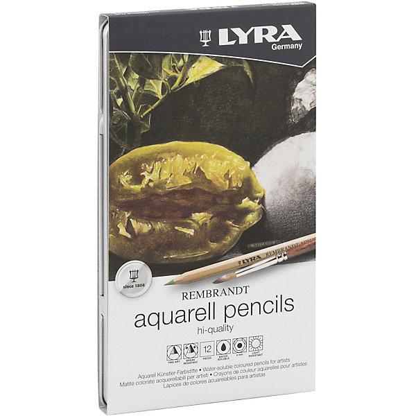 Купить Профессиональный набор акварельных карандашей POLYCOLOR, 12 цветов, LYRA, Германия, разноцветный, Унисекс