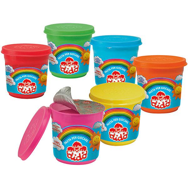 Паста для лепки DIDO 220 граммМасса для лепки<br>Характеристики товара:<br><br>• возраст: от 2 лет;<br>• материал: кукурузная мука, крахмал, соль, пищевые красители;<br>• размер упаковки: 8х8х8 см;<br>• вес упаковки: 250 гр.;<br>• страна бренда: Италия.<br><br>Экстра-мягкая, эластичная. Затвердевает на воздухе. На основе натуральных компонентов: кукурузная мука, крахмал, соль, пищевые красители. Идеальна для раннего развития малышей с 2 лет.<br>Цвета  - красный,  зеленый, оранжевый, синий, розовый, желтый.<br><br>Паста для лепки DIDO можно купить в нашем интернет-магазине.<br>Ширина мм: 85; Глубина мм: 80; Высота мм: 85; Вес г: 258; Цвет: разноцветный; Возраст от месяцев: 36; Возраст до месяцев: 2147483647; Пол: Унисекс; Возраст: Детский; SKU: 8004691;