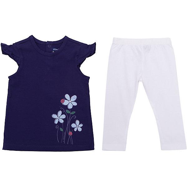 Комплект:футболка,леггинсы Original Marines для девочкиКомплекты<br>Характеристики товара:<br><br>• цвет: синий<br>• комплектация: футболка, леггинсы <br>• состав ткани: 92% хлопок, 8% эластан<br>• сезон: демисезон<br>• застежка: кнопки<br>• пояс: резинка<br>• короткие рукава<br>• страна бренда: Италия<br><br>Детский костюм состоит из двух вещей: футболки и леггинсов. Комплект для ребенка сделан из натурального качественного материала. Детский костюм комфортно сидит, не вызывает неудобств. Итальянский бренд Original Marines - это стильный продуманный дизайн и неизменно высокое качество исполнения. <br><br>Комплект: футболка, леггинсы Original Marines (Ориджинал Маринс) для девочки можно купить в нашем интернет-магазине.<br>Ширина мм: 199; Глубина мм: 10; Высота мм: 161; Вес г: 151; Цвет: темно-синий; Возраст от месяцев: 12; Возраст до месяцев: 15; Пол: Женский; Возраст: Детский; Размер: 80,68/74,62/68,56/62,86; SKU: 8015089;