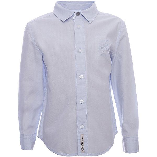 Рубашка Original MarinesОдежда<br>Характеристики товара:<br><br>• цвет: голубой<br>• состав ткани: 100% хлопок<br>• сезон: круглый год<br>• особенности модели: школьная<br>• застежка: пуговицы<br>• длинные рукава<br>• страна бренда: Италия<br><br>Голубая рубашка для ребенка - классического силуэта. Детская рубашка сделана из чистого хлопка, натурального и приятного на ощупь материала. Рубашка для детей от итальянского бренда Original Marines - качественная вещь, созданная европейскими дизайнерами.<br><br>Рубашку Original Marines (Ориджинал Маринс) можно купить в нашем интернет-магазине.<br>Ширина мм: 186; Глубина мм: 87; Высота мм: 198; Вес г: 197; Цвет: голубой; Возраст от месяцев: 24; Возраст до месяцев: 36; Пол: Мужской; Возраст: Детский; Размер: 92/98,152/158,140/146,128/134,116/122,104/110; SKU: 8015366;