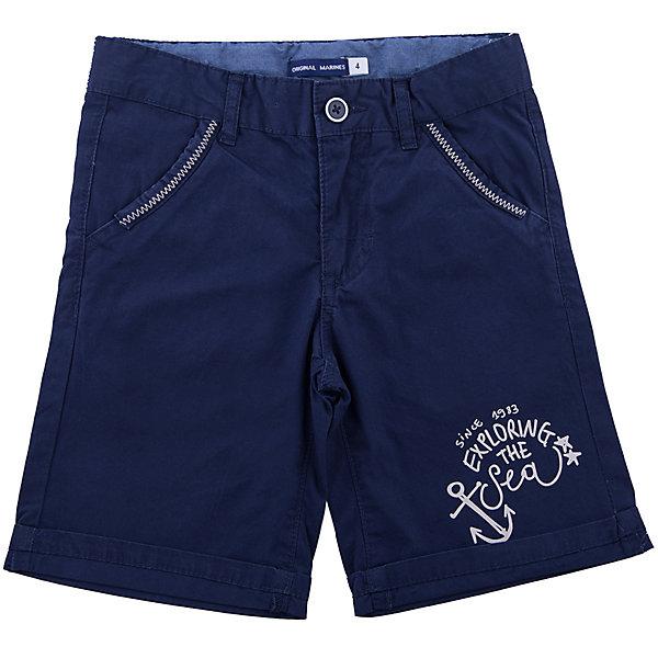 Шорты Original MarinesШорты, бриджи, капри<br>Характеристики товара:<br><br>• цвет: синий<br>• состав ткани: 100% хлопок<br>• сезон: лето<br>• застежка: пуговица, молния<br>• шлевки<br>• страна бренда: Италия<br><br>Хлопковые шорты для ребенка сделаны из качественного материала. Детские шорты дополнены удобными карманами. Одежда для детей от итальянского бренда Original Marines - это стильный продуманный дизайн и неизменно высокое качество вещей. <br><br>Шорты Original Marines (Ориджинал Маринс) можно купить в нашем интернет-магазине.<br>Ширина мм: 191; Глубина мм: 10; Высота мм: 175; Вес г: 273; Цвет: темно-синий; Возраст от месяцев: 18; Возраст до месяцев: 24; Пол: Мужской; Возраст: Детский; Размер: 92,152/158,140/146,128/134,116,110,104,98; SKU: 8015623;