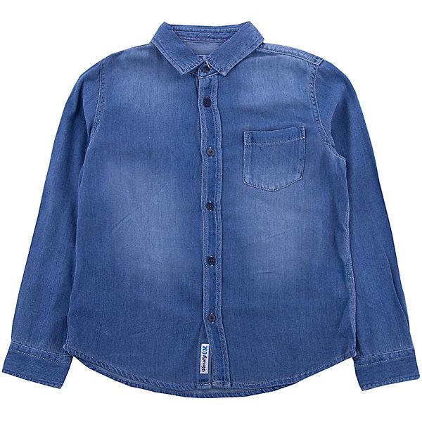 Купить Рубашка Джинсовая Original Marines, Бангладеш, синий, 140/146, 128/134, 116/122, 104/110, 92/98, 152/158, Мужской