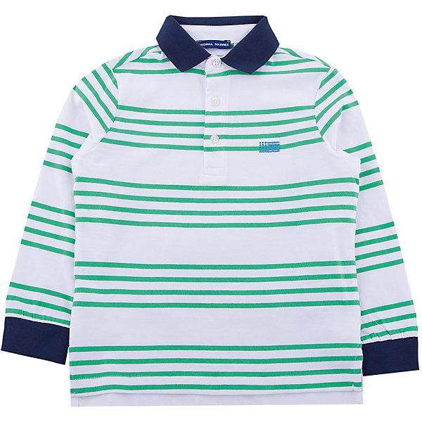 Футболка-поло Original MarinesФутболки, поло и топы<br>Характеристики товара:<br><br>• цвет: бело-зеленый<br>• состав ткани: 100% хлопок<br>• сезон: демисезон<br>• длинные рукава<br>• страна бренда: Италия<br><br>Эта футболка-поло для ребенка - классического силуэта. Детская футболка-поло с длинным рукавом сделана из чистого хлопка, натурального и приятного на ощупь материала. Футболка для детей от итальянского бренда Original Marines - качественная вещь, созданная европейскими дизайнерами.<br><br>Футболку-поло Original Marines (Ориджинал Маринс) можно купить в нашем интернет-магазине.<br>Ширина мм: 199; Глубина мм: 10; Высота мм: 161; Вес г: 151; Цвет: зеленый; Возраст от месяцев: 48; Возраст до месяцев: 60; Пол: Мужской; Возраст: Детский; Размер: 104/110,92/98,152/158,140/146,128/134,116/122; SKU: 8016288;