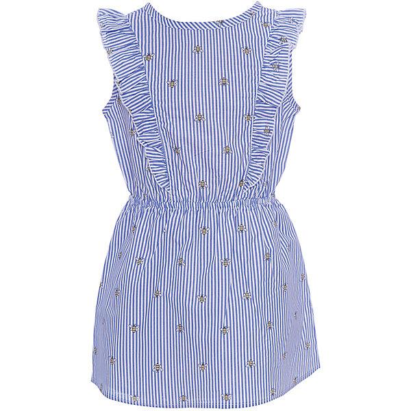 Платье Original Marines для девочкиПлатья и сарафаны<br>Характеристики товара:<br><br>• цвет: голубой<br>• состав ткани: 100% хлопок<br>• сезон: лето<br>• без рукавов<br>• страна бренда: Италия<br><br>Летнее платье для девочки декорировано оборками на лифе. Легкий лаконичный силуэт детского платья отлично подходит для ношения в жаркую погоду. Платье для ребенка сделано из качественного материала. Детская одежда от итальянского бренда Original Marines обеспечит ребенку комфорт.<br><br>Платье Original Marines (Ориджинал Маринс) для девочки можно купить в нашем интернет-магазине.<br>Ширина мм: 236; Глубина мм: 16; Высота мм: 184; Вес г: 177; Цвет: голубой; Возраст от месяцев: 72; Возраст до месяцев: 84; Пол: Женский; Возраст: Детский; Размер: 152/158,140/146,128/134,104/110,92/98,116/122; SKU: 8016798;