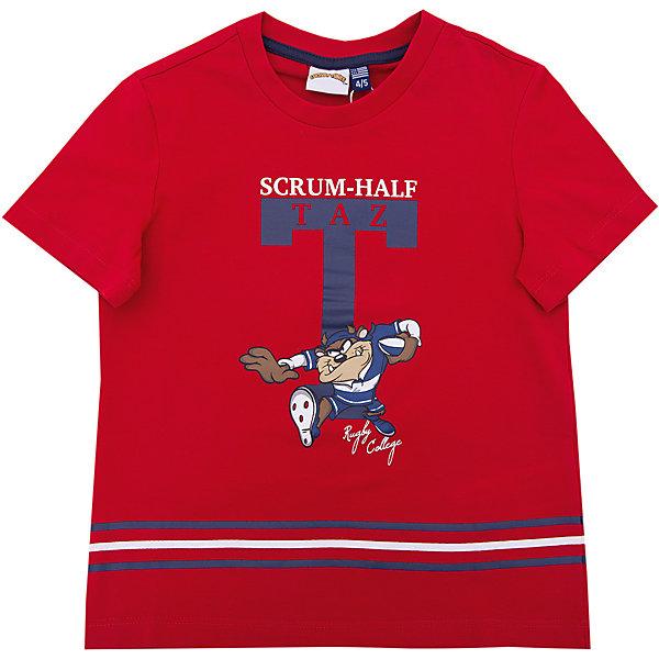 Футболка Original MarinesФутболки, поло и топы<br>Характеристики товара:<br><br>• цвет: красный<br>• состав ткани: 100% хлопок<br>• сезон: лето<br>• короткие рукава<br>• страна бренда: Италия<br><br>Синяя футболка для детей от известного европейского бренда Original Marines может стать универсальной вещью для создания модного наряда. Хлопковая футболка для ребенка декорирована оригинальным принтом. Детская футболка отличается высоким качеством швов и материала. <br><br>Футболку Original Marines (Ориджинал Маринс) можно купить в нашем интернет-магазине.<br>Ширина мм: 199; Глубина мм: 10; Высота мм: 161; Вес г: 151; Цвет: красный; Возраст от месяцев: 48; Возраст до месяцев: 60; Пол: Мужской; Возраст: Детский; Размер: 104/110,92/98,152/158,140/146,128/134,116/122; SKU: 8017190;