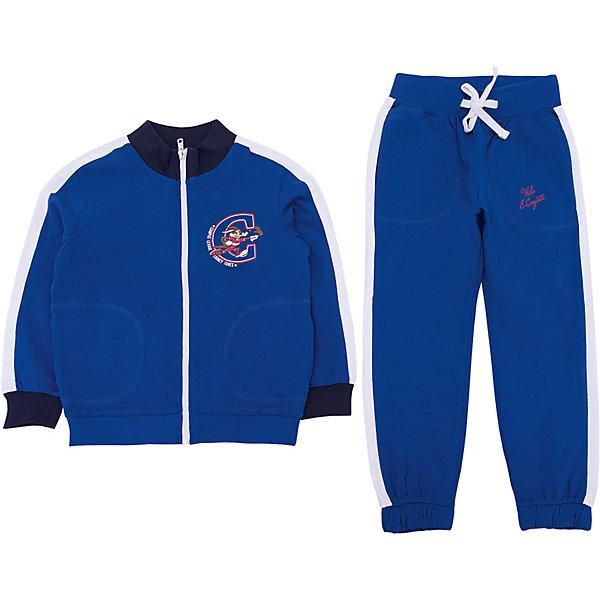 Спортивный костюм Original MarinesСпортивная одежда<br>Характеристики товара:<br><br>• цвет: синий<br>• комплектация: толстовка, брюки<br>• состав ткани: 100% хлопок<br>• сезон: демисезон<br>• особенности модели: спортивный стиль<br>• застежка: молния<br>• пояс: резинка, шнурок<br>• длинные рукава<br>• страна бренда: Италия<br><br>Практичный спортивный костюм обеспечит ребенку комфорт благодаря продуманному крою. Спортивный костюм для ребенка сделан из натурального качественного материала. Детский спортивный костюм комфортно сидит, не вызывает неудобств. Европейский бренд Original Marines - это стильный продуманный дизайн и неизменно высокое качество товаров. <br><br>Спортивный костюм Original Marines (Ориджинал Маринс) можно купить в нашем интернет-магазине.<br>Ширина мм: 247; Глубина мм: 16; Высота мм: 140; Вес г: 225; Цвет: синий; Возраст от месяцев: 48; Возраст до месяцев: 60; Пол: Мужской; Возраст: Детский; Размер: 104/110,92/98,152/158,140/146,128/134,116/122; SKU: 8017237;