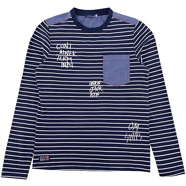 Джемпер Original MarinesФутболки с длинным рукавом<br>Характеристики товара:<br><br>• цвет: синий<br>• состав ткани: 100% хлопок<br>• сезон: демисезон<br>• длинные рукава<br>• страна бренда: Италия<br><br>Лонгслив для ребенка - это универсальный вариант повседневной одежды, который должен быть в детском гардеробе. Такая детская футболка с длинным рукавом не создает дискомфорта, даже её носить весь день - она сделана из дышащего хлопка. Такой детский лонгслив - отличный вариант стильной базовой вещи для молодежных нарядов.<br><br>Лонгслив Original Marines (Ориджинал Маринс) можно купить в нашем интернет-магазине.<br>Ширина мм: 190; Глубина мм: 74; Высота мм: 229; Вес г: 236; Цвет: темно-синий; Возраст от месяцев: 132; Возраст до месяцев: 144; Пол: Мужской; Возраст: Детский; Размер: 152,176,164; SKU: 8018497;