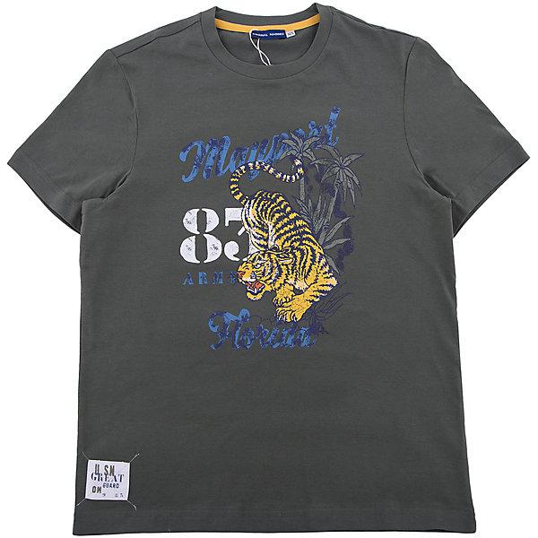 Футболка Original MarinesФутболки, поло и топы<br>Характеристики товара:<br><br>• цвет: зеленый<br>• состав ткани: 100% хлопок<br>• сезон: лето<br>• короткие рукава<br>• страна бренда: Италия<br><br>Практичная футболка для ребенка нравится детям благодаря стильному дизайну и мягкому материалу. Детская футболка сделана из натурального хлопка. Футболка для детей от итальянского бренда Original Marines - качественная вещь, созданная европейскими дизайнерами.<br><br>Футболку Original Marines (Ориджинал Маринс) можно купить в нашем интернет-магазине.<br>Ширина мм: 199; Глубина мм: 10; Высота мм: 161; Вес г: 151; Цвет: темно-зеленый; Возраст от месяцев: 132; Возраст до месяцев: 144; Пол: Мужской; Возраст: Детский; Размер: 152,164,176; SKU: 8018513;