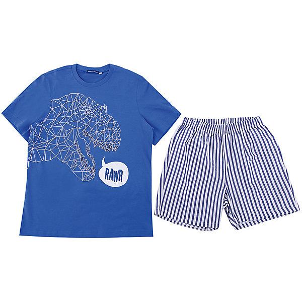 Пижама Original MarinesПижамы и сорочки<br>Характеристики товара:<br><br>• цвет: синий<br>• комплектация: футболка, шорты<br>• состав ткани: 100% хлопок<br>• сезон: круглый год<br>• застежка: кнопки<br>• пояс: резинка<br>• короткие рукава<br>• страна бренда: Италия<br><br>Мягкая детская пижама легко надевается благодаря эластичному материалу и мягкой резинке. Шорты от пижамы для ребенка не давят на живот - в них комфортная резинка. Такая детская пижама создает комфортные условия на протяжении всей ночи и позволяет коже дышать. <br><br>Пижаму Original Marines (Ориджинал Маринс) можно купить в нашем интернет-магазине.<br>Ширина мм: 281; Глубина мм: 70; Высота мм: 188; Вес г: 295; Цвет: синий; Возраст от месяцев: 132; Возраст до месяцев: 144; Пол: Мужской; Возраст: Детский; Размер: 152,176,164; SKU: 8018565;