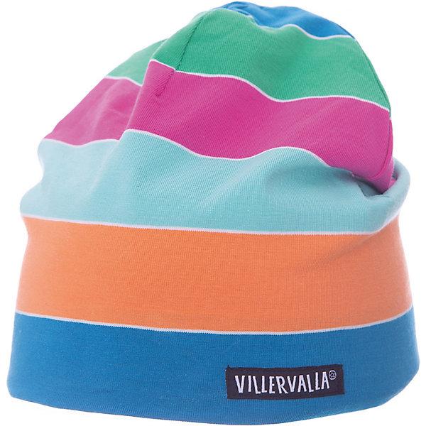 Шапка VillervallaГоловные уборы<br>Характеристики товара:<br><br>• цвет: синий<br>• состав ткани: 95% хлопок, 5 % эластан<br>• сезон: демисезон<br>• страна бренда: Дания<br><br>Шапка для детей от шведского бренда Villervalla - это удобная и теплая вещь, отличающаяся высоким качеством. Полосатая шапка для ребенка сделана из эластичного материала, благодаря мягкой резинке хорошо держится на голове. Детская шапка помогает защитить голову ребенка от прохладного воздуха. <br><br>Шапку Villervalla (Виллервалла) можно купить в нашем интернет-магазине.<br>Ширина мм: 89; Глубина мм: 117; Высота мм: 44; Вес г: 155; Цвет: синий/оранжевый; Возраст от месяцев: 12; Возраст до месяцев: 18; Пол: Женский; Возраст: Детский; Размер: 46-48,52-54,50-52,48-50; SKU: 8028805;