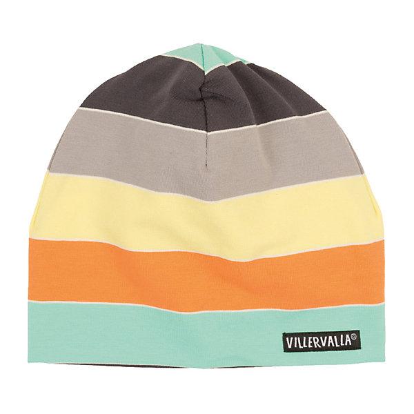 Купить Шапка Villervalla для мальчика, Турция, серый/оранжевый, 46-48, 52-54, 50-52, 48-50, Мужской
