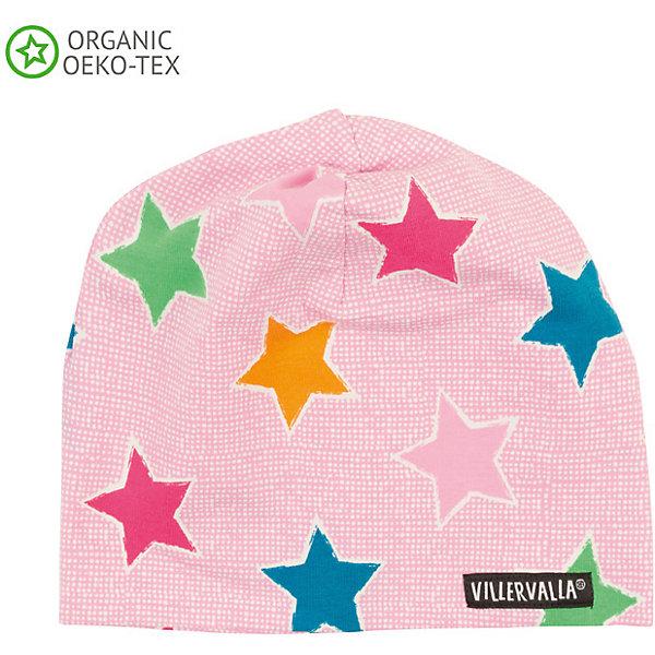 Шапка Villervalla для девочкиГоловные уборы<br>Характеристики товара:<br><br>• цвет: розовый<br>• состав ткани: 95% хлопок, 5 % эластан<br>• сезон: демисезон<br>• страна бренда: Дания<br><br>Стильная шапка для детей от шведского бренда Villervalla - это удобная и теплая вещь, отличающаяся высоким качеством. Яркая шапка для ребенка сделана из эластичного материала, благодаря мягкой резинке хорошо держится на голове. Детская шапка помогает защитить голову ребенка от прохладного воздуха. <br><br>Шапку Villervalla (Виллервалла) для девочки можно купить в нашем интернет-магазине.<br>Ширина мм: 89; Глубина мм: 117; Высота мм: 44; Вес г: 155; Цвет: розовый; Возраст от месяцев: 12; Возраст до месяцев: 18; Пол: Женский; Возраст: Детский; Размер: 46-48,52-54,48-50; SKU: 8028831;