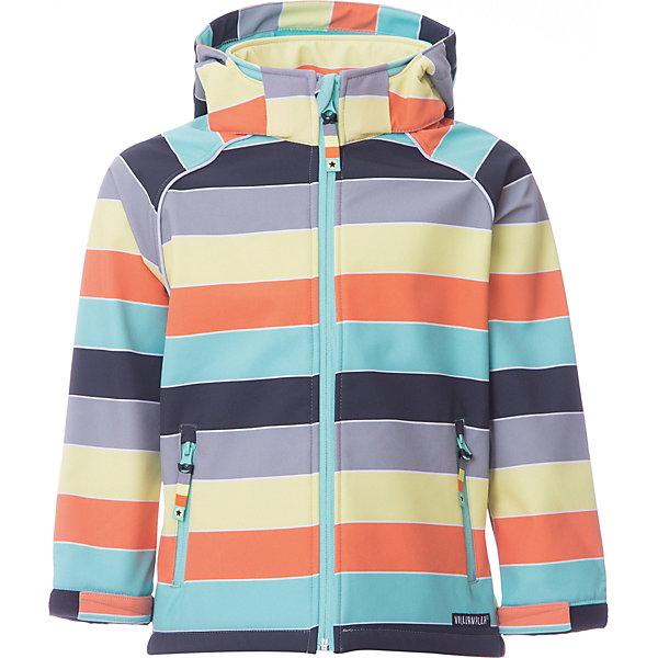 Купить Ветровка Soft Shell Villervalla для мальчика, Китай, серый/оранжевый, 98, 128, 122, 116, 110, 104, Мужской