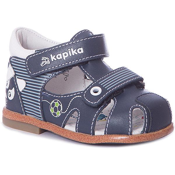 Сандалии Kapika для мальчикаСандалии<br>Сандалии Kapika для мальчика<br>Материал подкладки: натур.кожа<br>Материал подошвы: ТЭП (термоэластопласт)<br>Состав:<br>натур.кожа<br>Ширина мм: 219; Глубина мм: 154; Высота мм: 121; Вес г: 343; Цвет: синий; Возраст от месяцев: 3; Возраст до месяцев: 6; Пол: Мужской; Возраст: Детский; Размер: 18,20,19; SKU: 8029204;