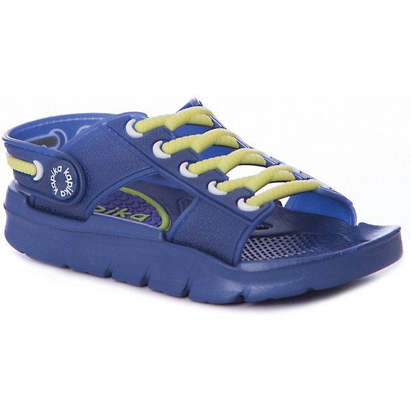 Сандалии Kapika для мальчикаПляжная обувь<br>Сандалии Kapika для мальчика<br>Материал подкладки: ЭВА<br>Материал подошвы: ЭВА<br>Состав:<br>ЭВА<br>Ширина мм: 219; Глубина мм: 154; Высота мм: 121; Вес г: 343; Цвет: темно-синий; Возраст от месяцев: 48; Возраст до месяцев: 60; Пол: Мужской; Возраст: Детский; Размер: 28,27,26,25,24,23; SKU: 8030047;