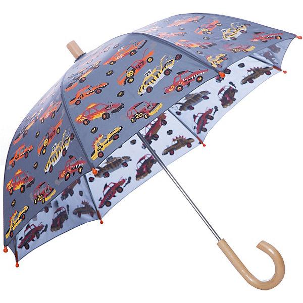 Зонт Hatley для мальчикаАксессуары<br>Характеристики товара:<br><br>• цвет: мульти<br>• материал: полиэстер, сталь, дерево<br>• особенности модели: механический<br>• сезон: демисезон<br>• страна бренда: Канада<br><br>Такой зонт-трость для детей позволит не только защититься от дождя, он станет стильным «взрослым» аксессуаром. Детский зонт декорирован оригинальным принтом. Удобным этот зонт для ребенка от известного канадского бренда Hatley делает легкий механизм раскладывания и небольшая деревянная ручка. <br><br>Зонт Hatley (Хатли) для мальчика можно купить в нашем интернет-магазине.<br>Ширина мм: 170; Глубина мм: 157; Высота мм: 67; Вес г: 117; Цвет: серый; Возраст от месяцев: 36; Возраст до месяцев: 1188; Пол: Мужской; Возраст: Детский; Размер: one size; SKU: 8036548;