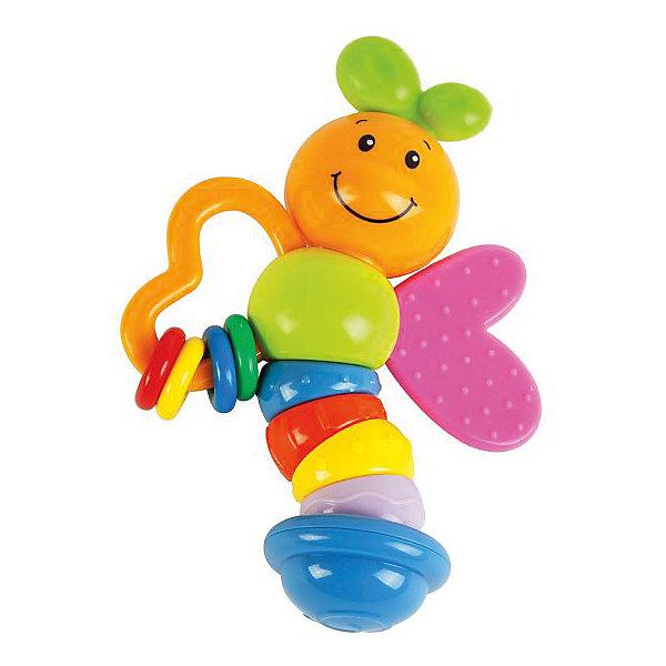 Погремушка-прорезыватель Жирафики Бабочка Мия, 15 смИгрушки для новорожденных<br>Погремушка Бабочка Мия надолго станет любимой игрушкой малыша. На одном крылышке бабочки — разноцветные колечки, которые можно перебирать пальчиками. Другое крылышко — это мягкий прорезыватель для зубов. Туловище бабочки сделано из элементов разного цвета с разным фактурным рисунком для развития тактильных ощущений у малыша. Размер игрушки: 15 см. Изделие изготовлено из пластмассы. Рекомендованный возраст: 6 мес. +<br>Ширина мм: 140; Глубина мм: 3; Высота мм: 305; Вес г: 100; Возраст от месяцев: 6; Возраст до месяцев: 2147483647; Пол: Унисекс; Возраст: Детский; SKU: 8042784;