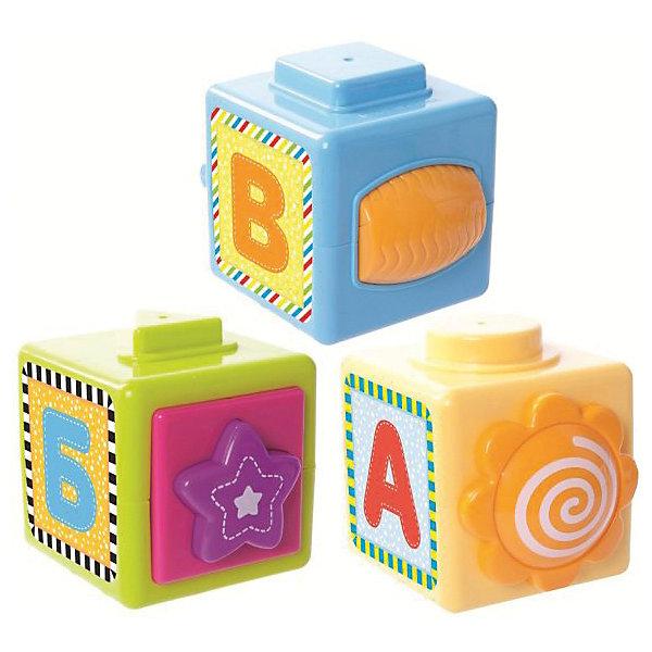 Развивающая игрушка Жирафики  МультикубикиРазвивающие игрушки<br>Развивающая игрушка Мультикубики - это целых 8 увлекательных игр! Такие игрушки развивают у детей мелкую моторику рук, координацию движений, память, логику и смекалку. Из трёх ярких кубиков можно собрать пирамидку или поиграть с каждым её элементом отдельно. На одном из кубиков – цветочек, который можно покрутить пальчиками в разные стороны, и занимательная игра День-ночь. При нажатии на звёздочку, расположенную на втором кубике, игрушка будет забавно пищать. На этом же кубике – веселая игра Какое тут животное с красочными изображениями зверюшек из семейства Жирафиков, названия которых малышу предстоит угадать. На третьем кубике – барабан, который можно очень весело крутить, а также игра Весёлый-грустный. На каждом кубике есть фактурные изображения чисел от 1 до 10 – можно изучать и собирать цифры. А еще на кубики приклеены наклейки с крупными буквами А, Б и В. Размер каждого кубика: 6,5х6,5х6,5 см. Игрушка изготовлена из пластика. Рекомендованный возраст: 9 мес. +<br>Ширина мм: 95; Глубина мм: 70; Высота мм: 260; Вес г: 350; Возраст от месяцев: 9; Возраст до месяцев: 2147483647; Пол: Унисекс; Возраст: Детский; SKU: 8042824;