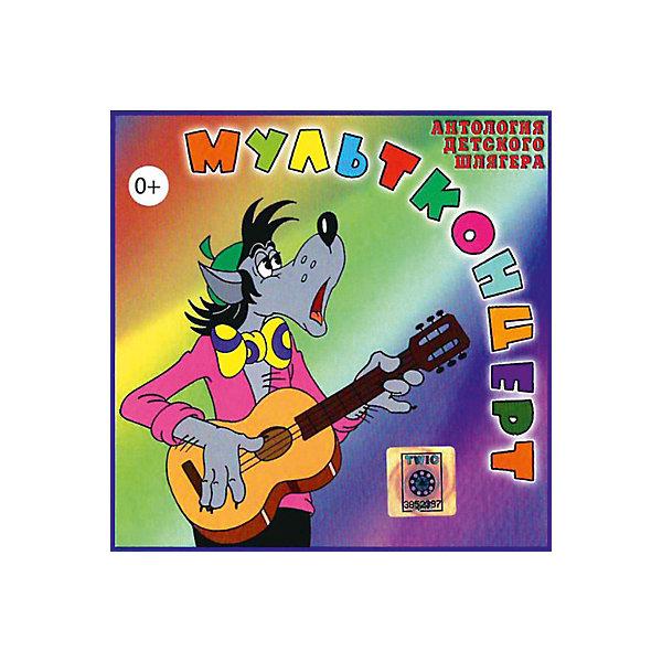 CD-диск сборник песен «Мультконцерт»Советские мультфильмы<br>Характеристики:<br><br>• возраст: от 0 лет;<br>• издательство: Твик-Лирек;<br>• формат: Audio CD;<br>• год издания: 2006;<br>• количество дисков: 1;<br>• количесто аудиозаписей: 28;<br>• размер: 14,2х1х12,5 см;<br>• вес: 77 гр.<br><br>Сборник детских песен «Мультконцерт» включает в себя высокого качества записи композиций, таких как:<br><br>• Ничего на свете лучше нету; <br>• Песенка Деда Мороза; <br>• Песенка Голубого Щенка; <br>• Песенка Умки; <br>• Песенка Львeнка и Черепахи;<br>• Ливень; <br>• Луч солнца золотого; <br>• Песня Шапокляк; <br>• Чебурашка; <br>• Песня Гениального Сыщика; <br>• Колыбельная Медведицы; <br>• Песенка Крокодила Гены; <br>• Песенка о лете; <br>• Голубой вагон; <br>• Песенка Груздя и другие.<br><br>Сборник «Мультконцерт» можно купить в нашем интернет — магазине.<br>Ширина мм: 142; Глубина мм: 10; Высота мм: 125; Вес г: 77; Возраст от месяцев: 24; Возраст до месяцев: 96; Пол: Унисекс; Возраст: Детский; SKU: 8058704;