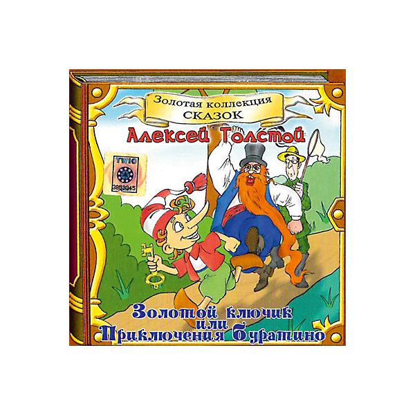 CD-диск сборник сказок «Золотой ключик, или Приключения Буратино»Советские мультфильмы<br>Характеристики:<br><br>• возраст: от 0 лет;<br>• издательство: Твик-Лирек;<br>• формат: Audio CD;<br>• год издания: 2005;<br>• количество дисков: 1;<br>• время звучания: 65 мин.;<br>• размер: 14,2х1х12,5 см;<br>• вес: 77 гр.<br><br>Сборник сказок «Золотой ключик, или Приключения Буратино» благодаря профессиональной многоголосной озвучке погрузит в совершенно невероятные приключения компании неунывающего Буратино и его друзей.<br><br>Аудиокнигу «Золотой ключик, или Приключения Буратино» можно купить в нашем интернет - магазине. +H31H32H30<br>Ширина мм: 142; Глубина мм: 10; Высота мм: 125; Вес г: 77; Возраст от месяцев: 36; Возраст до месяцев: 96; Пол: Унисекс; Возраст: Детский; SKU: 8058708;