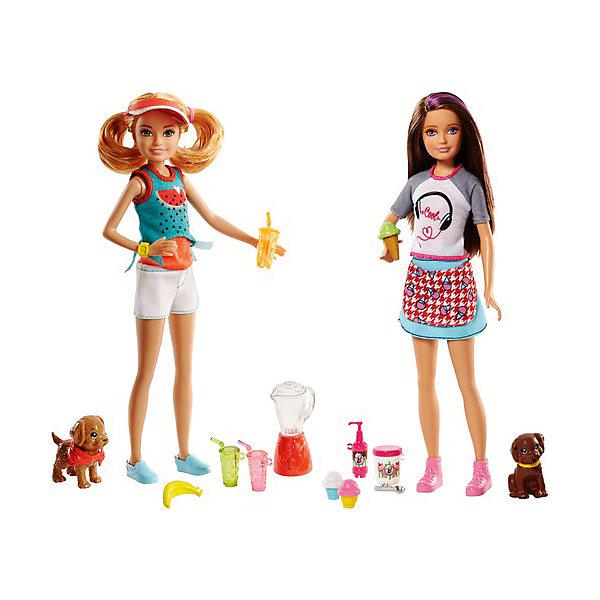 Игровой набор с куклой барби Barbie Сестры и щенкиКуклы<br>Характеристики:<br><br>• возраст: от 3 лет;<br>• материал: пластик, текстиль;<br>• комплектация: кукла, аксессуары;<br>• размер: 32х15х5 см;<br>• вес: 333 гр; <br>• бренд: Mattel.<br><br>Сестры и щенки Barbie позволят играть как дома, так и на природе! Кукла Барби готова взять своих питомцев на прогулку или с собой в путешествие! Кукла имеет 5 точек артикуляции, что позволит свободно поднимать и опускать ее руки, двигать ноги, а также поворачивать голову любимого персонажа. Она одета в стильный молодежный наряд, состоящий из футболки с рисунком и яркой юбки, который повторяет образ Barbie из мультфильма Барби и ее сестры в погоне за щенками.<br><br>В комплект также входим мини-фигурка очаровательного питомца, который поможет ребенку более достоверно разыгрывать сюжетные сценки, весело проводя свободное время.<br><br>Сестры и щенки Barbie можно купить в нашем интернет-магазине.<br>Ширина мм: 3250; Глубина мм: 1500; Высота мм: 550; Вес г: 333; Возраст от месяцев: 36; Возраст до месяцев: 2147483647; Пол: Женский; Возраст: Детский; SKU: 8068812;