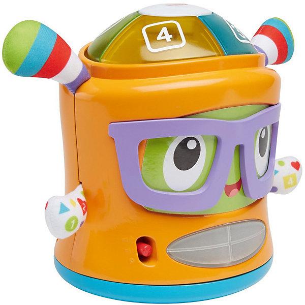 Интерактивная игрушка Fisher-Price Веселые ритмы ФрэнкиИнтерактивные игрушки для малышей<br>Характеристики:<br><br>• возраст: от 1 года;<br>• материал: пластик;<br>• размер: 19,5х28х4,5 см;<br>• вес: 684 гр; <br>• бренд: Fisher-Price.<br><br>Фрэнки «Веселые ритмы» развлекательно-развивающая кукла-неваляшка Фрэнки Битс для малышей ясельного возраста. читься веселее вместе с танцующей неваляшкой Фрэнки Битс! Малыш растет вместе со своей игрушкой, и она никогда не даст ему заскучать! Сначала ваш ребенок может играть с Фрэнки Битс как с неваляшкой. <br><br>Игрушка подсвечивается от прикосновения и помогает малышу понять последствия его действий! А когда он немного подрастет, то сможет развивать мелкую моторику и учиться запоминать фигуры, цвета и числа, нажимая на одну из 4 кнопок на голове игрушки — забавно и познавательно!<br><br>Фрэнки «Веселые ритмы» можно купить в нашем интернет-магазине.<br>Ширина мм: 280; Глубина мм: 195; Высота мм: 145; Вес г: 684; Возраст от месяцев: -2147483648; Возраст до месяцев: 2147483647; Пол: Унисекс; Возраст: Детский; SKU: 8068836;