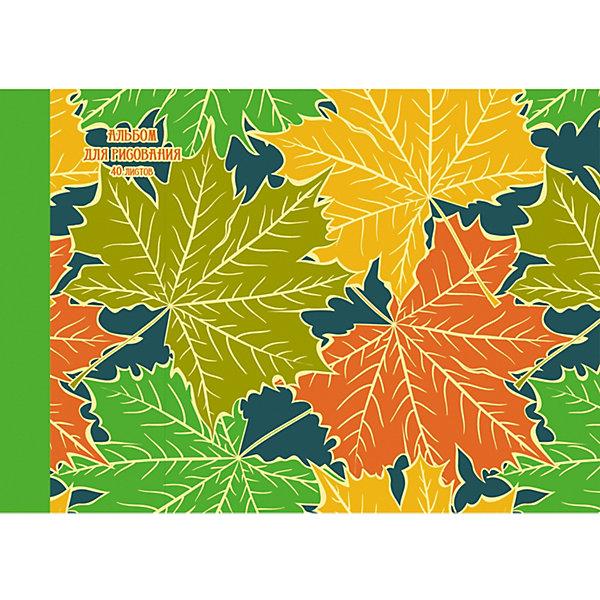 Купить Альбом для рисования Канц-Эксмо Золотые листья , 40 листов, Россия, разноцветный, Унисекс