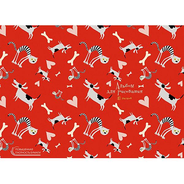 Купить Альбом для рисования Канц-Эксмо Весёлые друзья , 40 листов, Россия, разноцветный, Унисекс