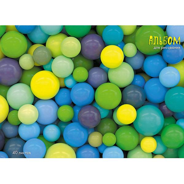 Купить Альбом для рисования Канц-Эксмо Разноцветные шары , 40 листов, Россия, разноцветный, Унисекс