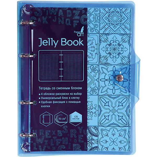 Купить Тетрадь со сменными блоками Канц-Эксмо Jelly Book А5, 120 листов, голубой, Китай, разноцветный, Унисекс