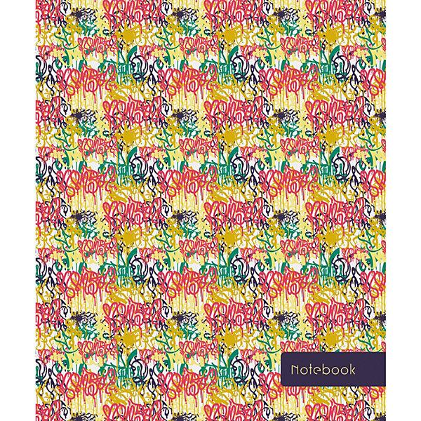Книга для записей Канц-Эксмо Граффити А5-, 120 листов, Россия, разноцветный, Унисекс  - купить со скидкой