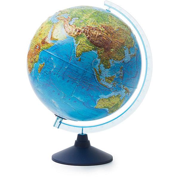 Глобус Земли Globen физический рельефный с подсветкой, 320ммГлобусы<br>Характеристики товара:<br><br>• возраст: от 6 лет;<br>• подсветка: от батареек (в комплект не входят);<br>• из чего сделана игрушка (состав): пластик;<br>• диаметр: 32 см.;<br>• серия: Классик Евро<br>• размер упаковки: 32,1х32,1х34,5 см.;<br>• вес: 1,1 кг.;<br>• упаковка: цветная картонная коробка.<br><br>Физико-политический глобус с подсветкой замечательный помощник ребенку для изучения мира.<br><br>Физическая карта максимально подробная и выполнена в полном соответствии со стандартами картографии. <br><br>Цветной ландшафт поверхности Земли дополнен рельефом поверхности глобуса, что придает особый эффект и улучшает восприятие карты ребенком. <br><br>Обозначены все основные и более мелкие географические объекты, такие как материки, моря, океаны с течениями, горные хребты, озера реки и другие. Кроме этого нанесены названия стран и самых значимых городов.<br><br>Для работы глобуса требуются батарейки АА пальчиковые, 2 шт., в комплект не входят.<br><br>Глобус Globen Земли физический рельефный с подсветкой можно купить в нашем интернет-магазине.<br>Ширина мм: 321; Глубина мм: 321; Высота мм: 345; Вес г: 1100; Цвет: разноцветный; Возраст от месяцев: 72; Возраст до месяцев: 2147483647; Пол: Унисекс; Возраст: Детский; SKU: 8075073;