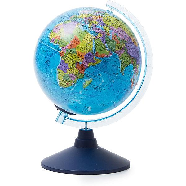Глобус Земли Globen политический с подсветкой, 210ммГлобусы<br>Характеристики товара:<br><br>• возраст: от 6 лет;<br>• подсветка: от батареек;<br>• из чего сделана игрушка (состав): пластик;<br>• диаметр: 21 см.;<br>• cерия Классик Евро<br>• размер упаковки: 22х22х25 см.;<br>• вес: 700 гр.;<br>• упаковка: цветная картонная коробка.<br><br>Политический глобус с подсветкой пригодится не только школьнику, который начал изучать географию, но и дошколенку, который еще познает мир. <br><br>Глобус позволяет увидеть реальные размеры стран, тогда как картографические плоские проекции значительно искажают размеры — просто сравните Россию на картах и на глобусе, и вы увидите, что на картах она уж слишком велика. <br><br>Политический глобус это полезный и интересный инвентарь, который никогда не будет лишним.<br>Для работы глобуса требуются батарейки АА пальчиковые, 2 шт., в комплект не входят.<br><br>Глобус Globen Земли политический с подсветкой можно купить в нашем интернет-магазине.<br>Ширина мм: 220; Глубина мм: 220; Высота мм: 250; Вес г: 700; Цвет: разноцветный; Возраст от месяцев: 72; Возраст до месяцев: 2147483647; Пол: Унисекс; Возраст: Детский; SKU: 8075077;