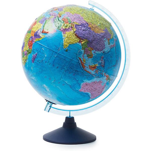Глобус Земли Globen политический рельефный с подсветкой, 320ммГлобусы<br>Характеристики товара:<br><br>• возраст: от 6 лет;<br>• подсветка: от батареек (в комплект не входят);<br>• из чего сделана игрушка (состав): пластик;<br>• диаметр: 32 см.;<br>• серия: Классик Евро<br>• размер упаковки: 32,1х32,1х34,5 см.;<br>• вес: 1,1 кг.;<br>• упаковка: цветная картонная коробка.<br><br>Главная часть глобуса его сфера она имеет очень интересное исполнение. <br><br>Физическая карта максимально подробная, с нанесенными названиями материков, океанов с течениями, морей, островов, рек, гор и других географических объектов имеет рельеф в соответствии с ландшафтом местности. <br><br>При включении подсветки физическая карта превращается в политическую - яркими цветами выделяются страны, их границы, названия, значимые города. <br><br>Такая особенность позволяет сочетать в одном глобусе два. Это очень важно при разноплановой учебе.<br><br>Для работы глобуса требуются батарейки АА пальчиковые, 2 шт., в комплект не входят.<br><br>Глобус Globen Земли полический рельефный с подсветкой можно купить в нашем интернет-магазине.<br>Ширина мм: 321; Глубина мм: 321; Высота мм: 345; Вес г: 1100; Цвет: разноцветный; Возраст от месяцев: 72; Возраст до месяцев: 2147483647; Пол: Унисекс; Возраст: Детский; SKU: 8075079;