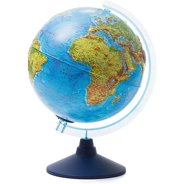 Купить Глобус Земли Globen физический рельефный с подсветкой, 250мм, Россия, разноцветный, Унисекс