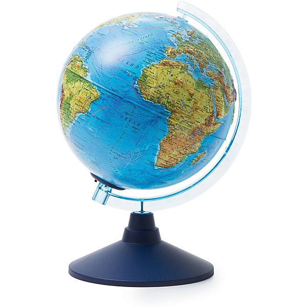 Купить Глобус Земли Globen физический рельефный с подсветкой, 210мм, Россия, разноцветный, Унисекс