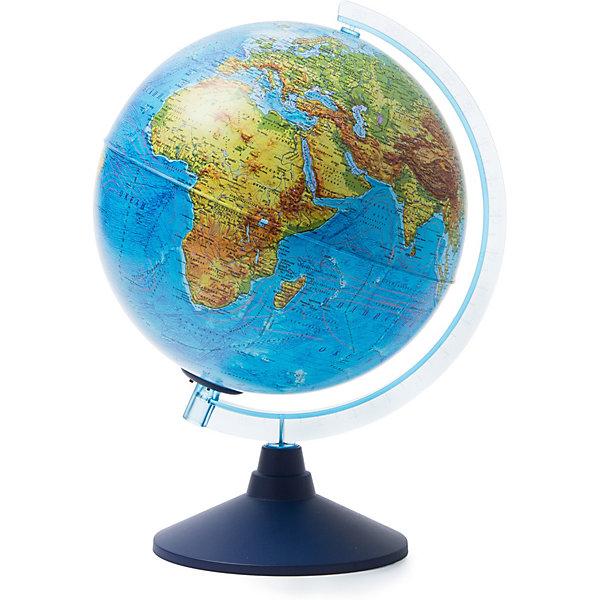 Глобус Земли Globen физический с подсветкой, 250ммГлобусы<br>Характеристики товара:<br><br>• возраст: от 6 лет;<br>• подсветка: от батареек (не входят в комплект);<br>• из чего сделана игрушка (состав): пластик;<br>• диаметр: 25 см.;<br>• cерия Классик Евро;<br>• размер упаковки: 26х26х27,5 см.;<br>• вес: 900 гр.;<br>• упаковка: цветная картонная коробка.<br><br>Глобус — самый простой способ привить ребёнку любовь к географии. Он является отличным наглядным примером, который способен в игровой доступной и понятной форме объяснить понятия о планете Земля.<br><br>Глобус находится на пластиковой подставке.<br>На глобус нанесены границы государств и демаркационные линии, столицы и крупные города, линии перемены дат, железнодорожные и морские пути. <br><br>Глобус Globen Земли физический можно купить в нашем интернет-магазине.<br>Для работы глобуса требуются батарейки АА пальчиковые, 2 шт., в комплект не входят.<br><br>Глобус Globen Земли физический с подсветкой можно купить в нашем интернет-магазине.<br>Ширина мм: 260; Глубина мм: 260; Высота мм: 275; Вес г: 900; Цвет: разноцветный; Возраст от месяцев: 72; Возраст до месяцев: 2147483647; Пол: Унисекс; Возраст: Детский; SKU: 8075091;