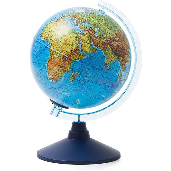 Глобус Земли Globen физико-политический с подсветкой, 210ммГлобусы<br>Характеристики товара:<br><br>• возраст: от 6 лет;<br>• подсветка: от батареек (в комплект не входят);<br>• из чего сделана игрушка (состав): пластик;<br>• диаметр: 21 см.;<br>• cерия Классик Евро<br>• размер упаковки: 22х22х25 см.;<br>• вес: 700 гр.;<br>• упаковка: цветная картонная коробка.<br><br>Физико-политический глобус с подсветкой замечательный помощник ребенку для изучения мира.<br><br>Глобус позволяет увидеть реальные размеры стран, тогда как картографические плоские проекции значительно искажают размеры — просто сравните Россию на картах и на глобусе, и вы увидите, что на картах она уж слишком велика. <br><br>Политический глобус это полезный и интересный инвентарь, который никогда не будет лишним.<br>Для работы глобуса требуются батарейки АА пальчиковые, 2 шт., в комплект не входят.<br><br>Глобус Globen Земли физико-политический с подсветкой можно купить в нашем интернет-магазине.<br>Ширина мм: 220; Глубина мм: 220; Высота мм: 250; Вес г: 700; Цвет: разноцветный; Возраст от месяцев: 72; Возраст до месяцев: 2147483647; Пол: Унисекс; Возраст: Детский; SKU: 8075093;