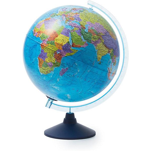 Глобус Земли Globen политический с подсветкой, 320ммГлобусы<br>Характеристики товара:<br><br>• возраст: от 6 лет;<br>• подсветка: от батареек;<br>• из чего сделана игрушка (состав): пластик;<br>• диаметр: 32 см.;<br>• размер упаковки: 32,1х32,1х34,5 см.;<br>• вес: 1,1 кг.;<br>• упаковка: цветная картонная коробка.<br><br>Политический глобус с подсветкой пригодится не только школьнику, который начал изучать географию, но и дошколенку, который еще познает мир. <br><br>Глобус позволяет увидеть реальные размеры стран, тогда как картографические плоские проекции значительно искажают размеры — просто сравните Россию на картах и на глобусе, и вы увидите, что на картах она уж слишком велика. <br><br>Политический глобус это полезный и интересный инвентарь, который никогда не будет лишним.<br><br>Для работы глобуса требуются батарейки АА пальчиковые, 2 шт., в комплект не входят.<br><br>Глобус Globen Земли политический с подсветкой можно купить в нашем интернет-магазине.<br>Ширина мм: 321; Глубина мм: 321; Высота мм: 345; Вес г: 1100; Цвет: разноцветный; Возраст от месяцев: 72; Возраст до месяцев: 2147483647; Пол: Унисекс; Возраст: Детский; SKU: 8075099;
